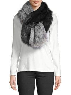 FURious Fur - The Ethical Choice Foxy Two-Tone Faux Fur Scarf