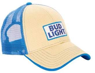 Men's Bud Light Paper Straw Adjustable Baseball Cap