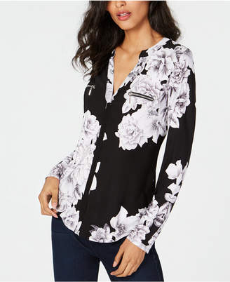 INC International Concepts I.n.c. Floral-Print Top, Created for Macy's