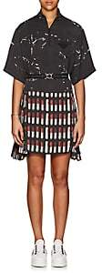 Prada Women's Lipstick-Print Belted Dress - Black