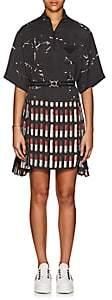 Prada Women's Lipstick-Print Belted Dress-Black