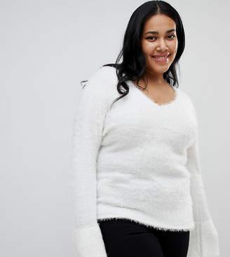 Brave Soul Plus Freya Fluffy Sweater