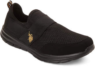 U.S. Polo Assn. Black & Gold Clara Slip-On Sneakers