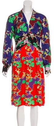 Rixo London Printed Midi Dress