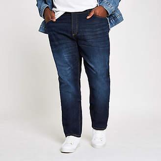 River Island Big and Tall dark blue slim fit jeans