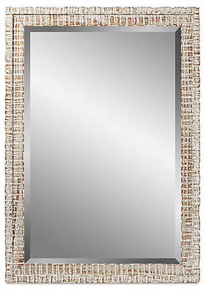 C&C Reflections Weathered Mirror - White