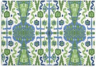 Loom Decor Placemats, Set of 4 Ikat Believe It - Kelly