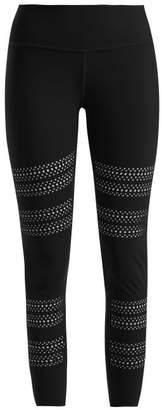 Track & Bliss - Go With The Flow Laser Cut Leggings - Womens - Black