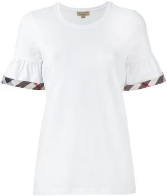 Burberry checked detailing T-shirt $201.56 thestylecure.com