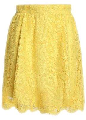Valentino Cotton-Blend Corded Lace Mini Skirt
