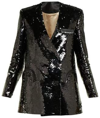 BLAZÉ MILANO Kelpie Sequinned Double Breasted Blazer - Womens - Black Multi