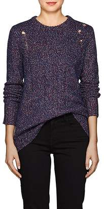 Raquel Allegra Women's Distressed Cable-Knit Wool-Blend Sweater