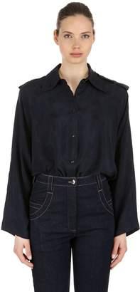 Nina Ricci Logo Jacquard Satin Shirt