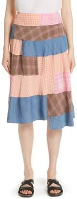 Comme des Garcons Patchwork Gingham Skirt