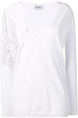 Liu Jo side lace detail jumper