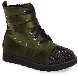 Jessica Simpson Glitter Combat Boot