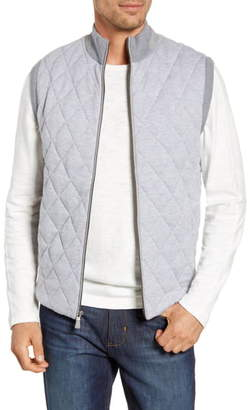 Peter Millar Mountainside Quilted Wool Blend Vest