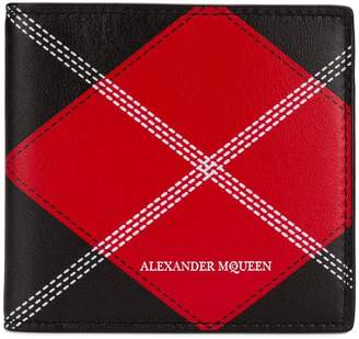 Alexander McQueen argyle print bifold wallet