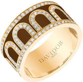 L'Arc de Davidor 18k Gold Diamond Ring - Grand Model, Cognac, Sz. 6