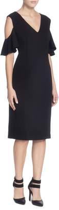 Catherine Malandrino Liss Cold Shoulder Sheath Dress