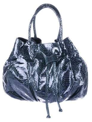Carlos Falchi Fatto a Mano by Embossed Leather Handle Bag