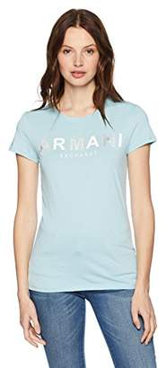 Armani Exchange A|X Women's Scoop Neck Logo Tee