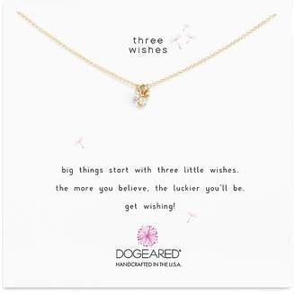 """Dogeared Dogeaded Three Wishes Cluster Necklace, 16"""""""