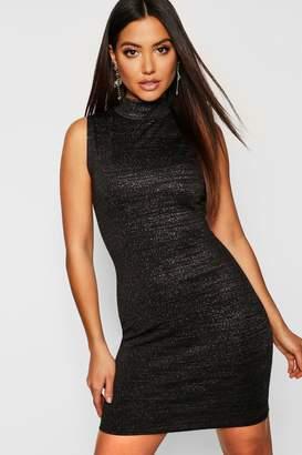 boohoo Metallic Sleeveless Bodycon Dress