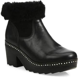 Rag & Bone Women's Nelson Leather & Shearling Clog Booties