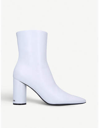 Balenciaga Oval leather heeled ankle boots