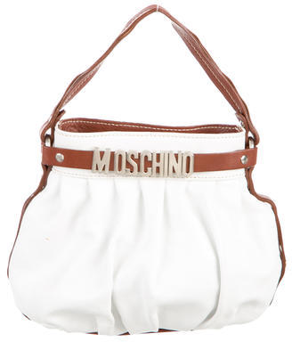 Moschino Leather Handle Bag $75 thestylecure.com