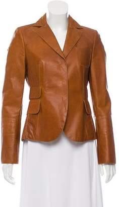 Akris Lightweight Leather Jacket