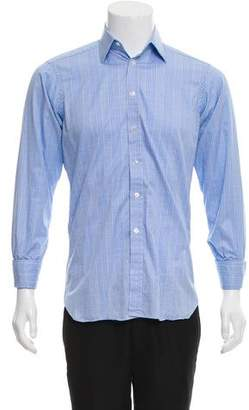 Turnbull & Asser Checkered French Cuff Shirt