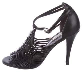 Pour La Victoire Leather Multistrap Sandals