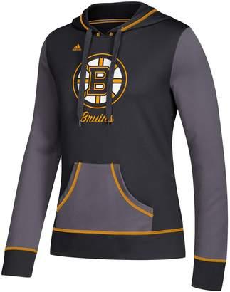 adidas Women's Boston Bruins Script Pullover Hoodie