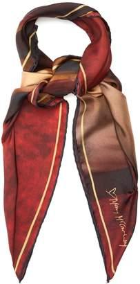 MARY MCCARTNEY Red Velvet Nude-print silk scarf