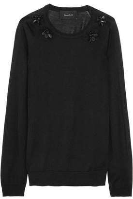 Simone Rocha Embellished Wool Silk And Cashmere-Blend Sweater