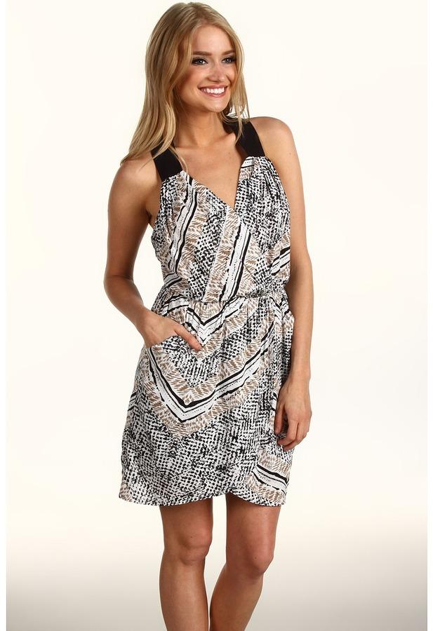 BCBGeneration Print Crisscross Strap Dress (Twine Multi) - Apparel