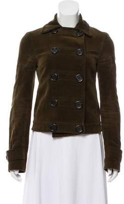 Michael Kors Double-Breasted Velvet Jacket