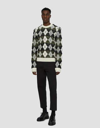 J.W.Anderson Structured Argyle Sweater