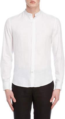 Ganesh Mandarin Collar Linen Shirt