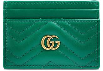 Gucci GG Marmont Matelasse Leather Card Case