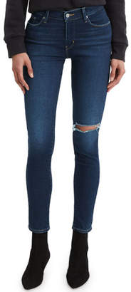 Levi's Premium Curvy Skinny Ankle Jeans with Distressing