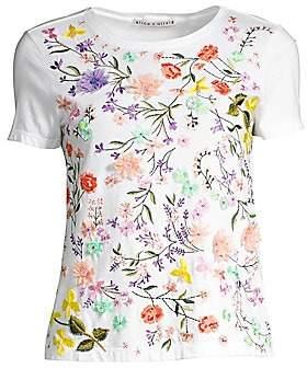 Alice + Olivia Women's Rylyn Embellished Floral T-Shirt