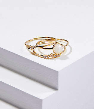 LOFT Stone Ring Set