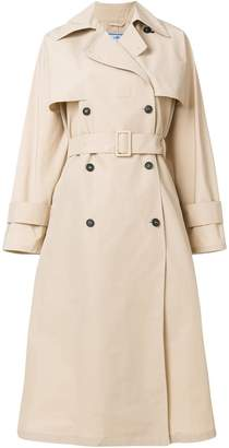 oversized belted trench coat