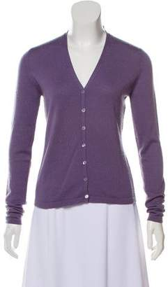 Autumn Cashmere Button-Up Cashmere Cardigan