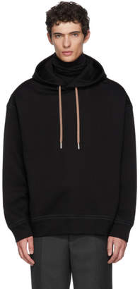 Jil Sander Black Dropped Shoulder Hoodie