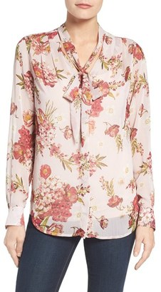Women's Kut From The Kloth Amelie Tie Neck Floral Blouse $78 thestylecure.com