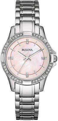 Bulova Women's Stainless Steel Bracelet Watch 30mm 96L206 $299 thestylecure.com
